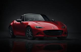 The 4th generation MX-5 (Roadster) was unveiled at simultaneous fan events in Japan, the U.S. and Spain.