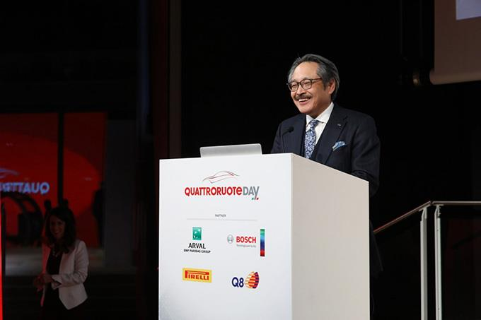 Kiyoshi Fujiwara, Director and Senior Managing Executive Officer at Mazda Motor Corporation at the Q Global Tech Awards