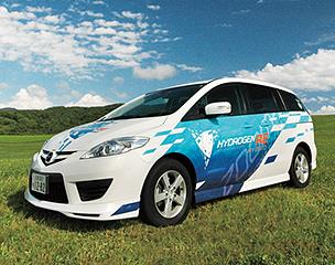 The Premacy Hydrogen RE Hybrid inherits the dual-fuel system from the Mazda RX-8 Hydrogen RE and combines it with a newly developed hybrid system for greatly enhanced driving performance and practicality. The Premacy Hydrogen RE Hybrid has been available on lease to governmental bodies and companies in Japan since March 2009.