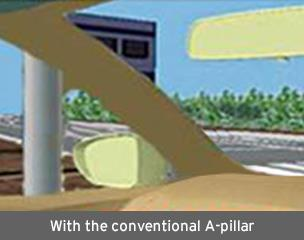 With the conventional A-pillar
