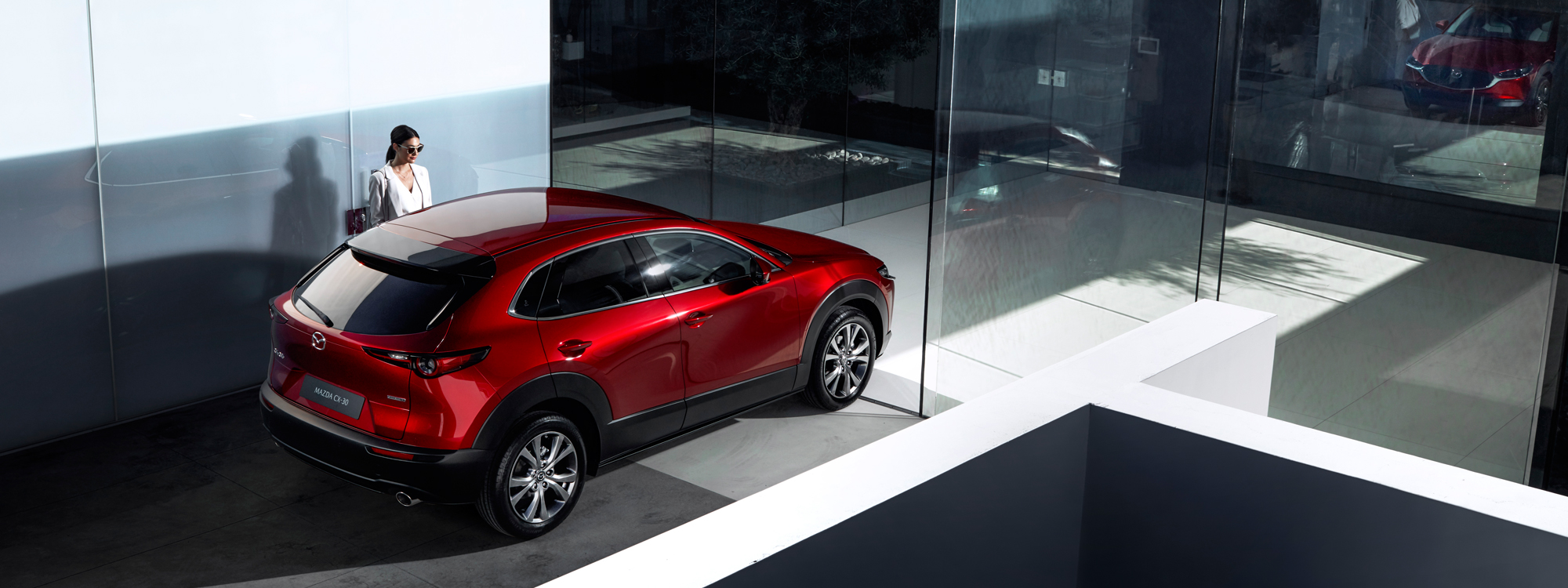 Mazda CX-30 with a woman