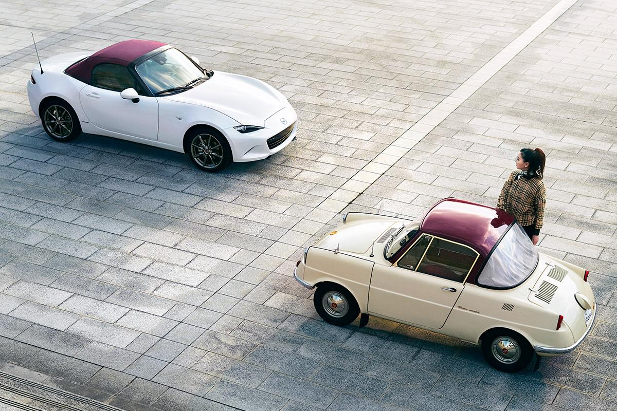 Mazda MX-5 of 100th Anniversary Special Edition and R360 Coupe