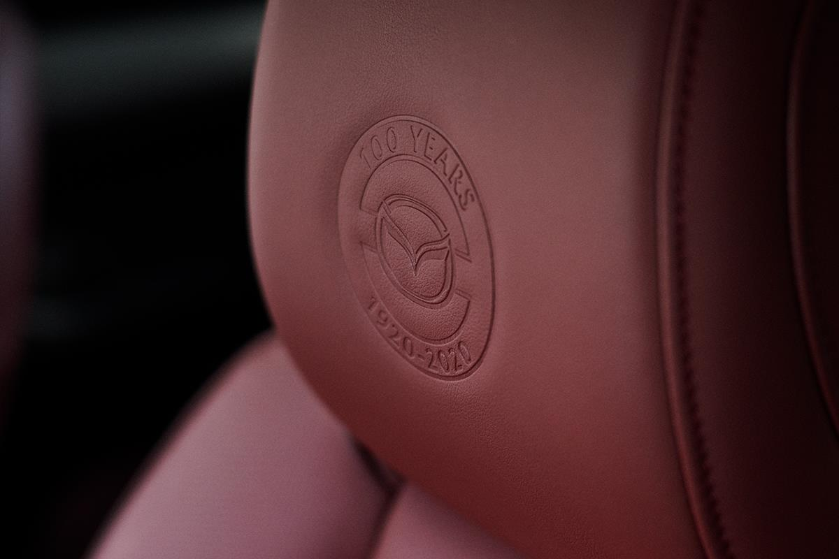 100th Anniversary Special Logo on headrest