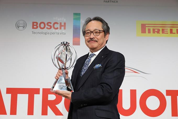 Kiyoshi Fujiwara, Director and Senior Managing Executive Officer at Mazda Motor Corporation at the Q Global Tech Awards