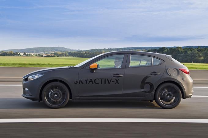 SKYACTIV-X prototype at the Mazda Global Tech Forum in 2017