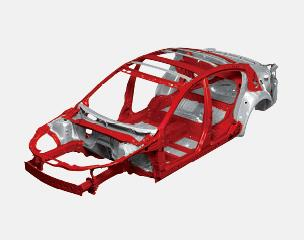 New-generation lightweight and high-rigidity body delivers driving pleasure and outstanding collision safety performance through technological improvements and innovative thinking