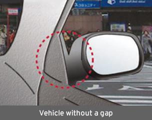 Vehicle without a gap