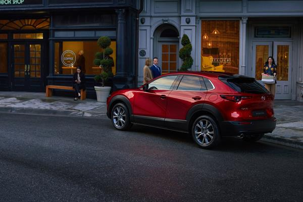 Mazda CX-30 in the city