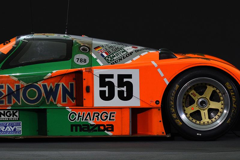 What does the number 55 on the 787B signify?