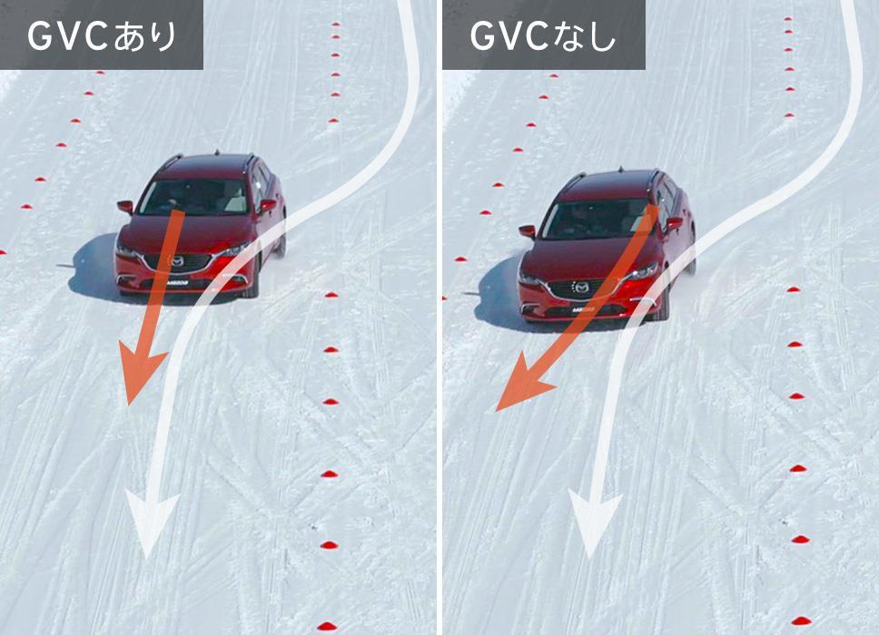 図12:雪道での効果例